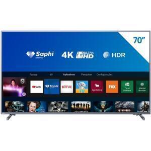 "Smart TV LED 70"" Philips 70PUG6774/78 4K - R$3.721"