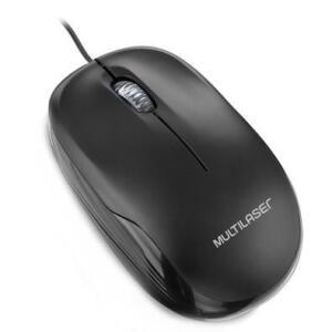 Mouse Multilaser 1200DPI USB Preto - MO255 - R$13