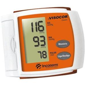 Medidor de Pressão Digital Pulso Viscor Laranja - Incoterm | R$99