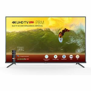 Smart TV LED 50'' 50P8M 4K UHD HDR com Android e Comando de Voz- TCL | R$ 1.671