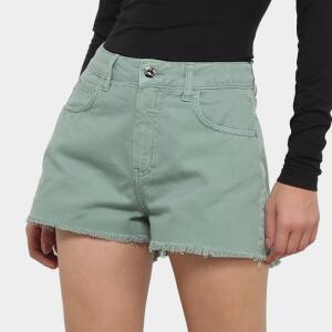 Shorts Jeans Sommer Feminino - Verde | R$44