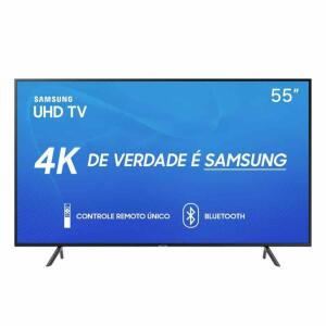 "TV LED 55"" Samsung Smart TV RU7100 4K 3 HDMI 2 USB 60Hz   R$2279"