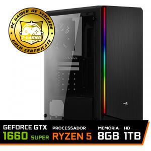 Pc Gamer T-General Lvl-1 Amd Ryzen 5 3600 / GeForce GTX 1660 Super 6GB / DDR4 8GB / HD 1TB / 500W | R$4.603