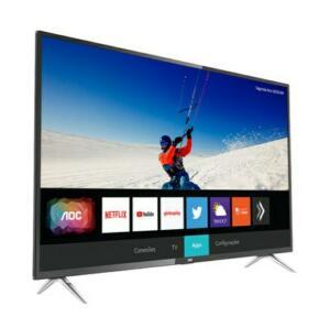 """Smart TV LED 55"""" AOC 55U6295-78G Ultra HD 4K Wi-Fi, HDR, Xmart Preta com Conversor Digital Integrado"""