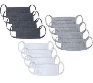 (PRIME) Kit 12 peças Máscaras de Proteção em Algodão, Mash
