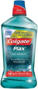 [Frete Prime] Enxaguante Bucal Colgate Plax Ice Infinity 1000ml   R$16