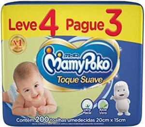 Toalhas Umedecidas MamyPoko, Pacote com 200 unidades