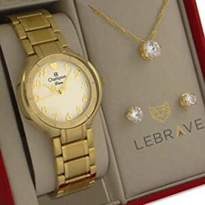 Relógio Champion Feminino Dourado Prova d'água Original - R$179