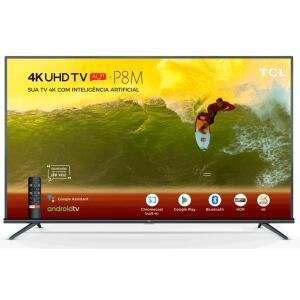 "Smart TV LED 65"" TCL, 4K, Wi-Fi, Google Assistant, Bluetooth® - 65P8M - R$2999"