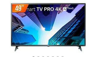 "Smart TV LED 49"" 120Hz, 4K LG, 3 HDMI, 2 USB, ThinQ AI - 49UM731C0SA.BWZ"