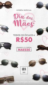 Todos os Óculos por R$50 na L.B.A Shop