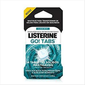 Listerine Go Tabs 4 Unid. | Frete Grátis - Prime