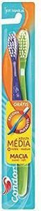 [Prime] Escova Dental Kit Família, Condor, Multicor   R$ 1,64