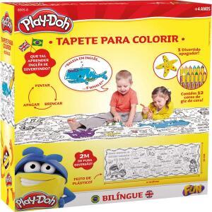 [Prime] Tapete para Colorir Bilíngue Play Doh R$ 50