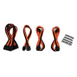 Kit Cabo Sleeved Pichau Gaming Preto/laranja (8p + 2x6+2p + 24p)