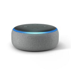 Echo Dot Amazon Smart Speaker Cinza Alexa 3a Geração em Português - R$224