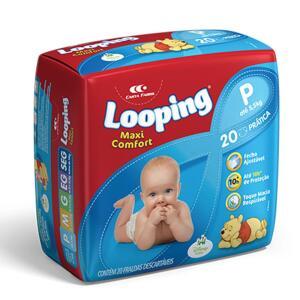 [Leve 4] Fralda Descartável Looping Maxi Confort Prática P/M/G/EG/EEG R$ 17