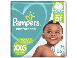 112 Fraldas Pampers confort sec XXG R$95,00