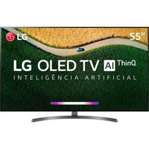 "Smart TV Oled 55"" LG OLED55b9PSB HDR Ativo com Dolby Vision e Dolby Atmos 4 HDMI 3 USB Wi-Fi R$5.399"
