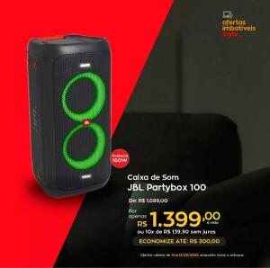 Caixa de Som JBL Partybox 100, Bluetooth, 160 watts