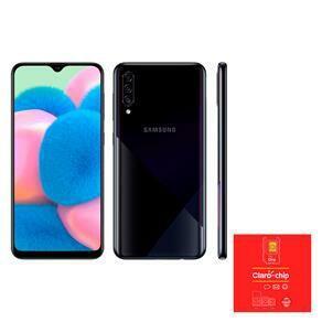 Smartphone Samsung Galaxy A30s Preto 64GB + Triplo Chip Claro ODA 4G | R$1.178