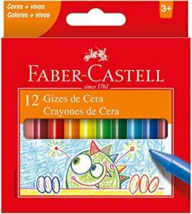 [PRIME] Giz de Cera, Faber-Castell, 12 Cores | R$2
