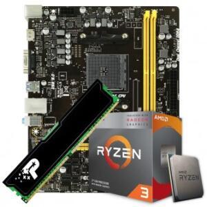 Kit Upgrade Placa Mãe Biostar B450MH AMD AM4 + Processador Ryzen 3 3200G 3.6GHz + Memória DDR4 8GB 2400MHz