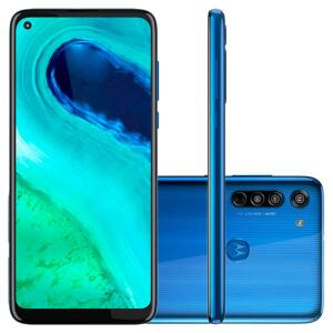 Smartphone Motorola Moto G8 XT2045-1 Azul Capri 64GB - R$1115