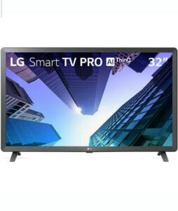 Smart TV LED 32´ LG, 3 HDMI, 2 USB, Bluetooth, Wi-Fi, Active HDR, ThinQ AI - 32LM621CBSB.AWZ | R$ 854