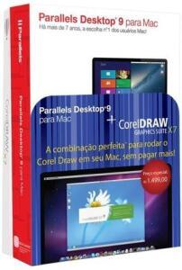 Parallels Desktop 9 + CorelDRAW Graphics Suite X7 - Mac | R$ 210