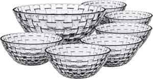 Conjunto de Tigelas de Vidro Rattan 7 Peças Euro Transparente | R$46