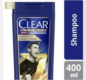 3 Unidades Shampoo Anticaspa Clear Men Sports 400ml