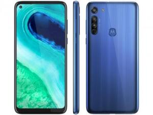 "Smartphone Motorola Moto G8 64GB Azul Capri 4G - 4GB RAM Tela 6,4"" Câm. Tripla + Câm. Selfie 8MP"
