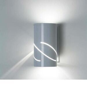 Arandela de Alumínio redonda para lâmpada E27 branca ideal