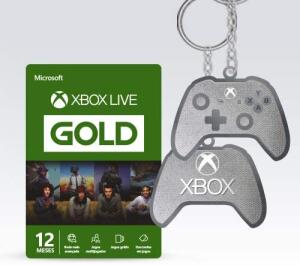 Microsoft Xbox Live Gold - 12 Meses + Chaveiro | R$ 129