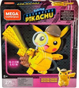 Pokémon Detetive Pikachú Construível, 271 peças | R$75