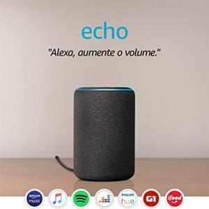 Echo Smart Speaker com Alexa - Cor Preta - Amazon.com.br