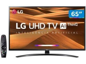 "Smart TV 4K LED IPS 65"" LG 65UM7470PSA Wi-Fi-Bluetooth HDR Inteligência Artificial 3 HDMI 2 USB"