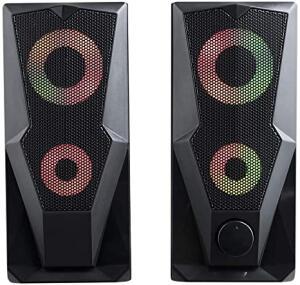 [Frete Prime] Caixa de Som Multilaser Gamer P2+USB Stereo 2.0 15W RMS LED RGB - SP330