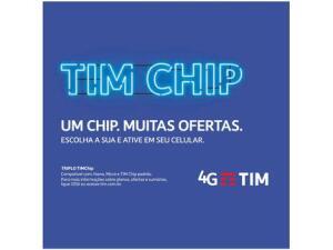 Chip TIM 4G - Pré-Pago/Controle R$ 5