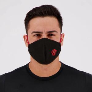 Máscara Flamengo Preta e Vermelha