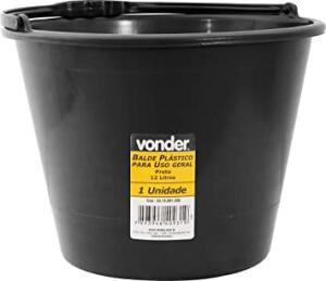 Balde Plástico Uso Geral 12 Litros, Vonder Vdo3106 Vonder