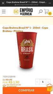 COPO BRAHMA 250ML | R$ 2