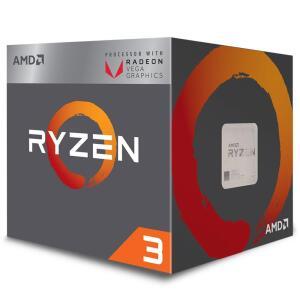 Processador AMD Ryzen 3 2200G, Cooler Wraith Stealth, Cache 6MB, 3.5GHz (3.7GHz Max Turbo), AM4 | R$ 590