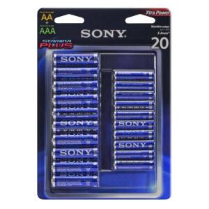 Pilha Sony Alcalina Stamina Plus 10 AA + 10 AAA R$34