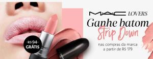 Ganhe batom MAC nas compras da marca acima de R$179