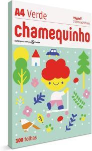 Papel Sulfite, Chamequinho, A4, 75g, Verde, 100 Folhas | R$6