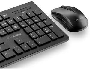(PRIME) MULTILASER Combo Teclado e Mouse Sem Fio de Entrada Multimídia USB - TC212, Preto