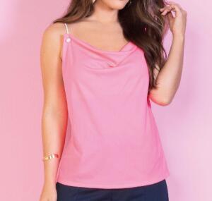 Blusa pink neon com alça de cordas | R$15