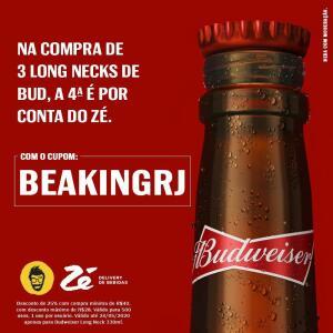[Somente RJ] Cupom de Budweiser